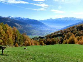 Blick vom Watles nach Mals und zum Lechtlhof