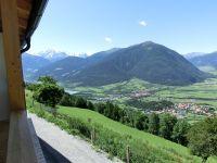 Aussicht vom Balkon der Ferienwohnung in Richtung Ortler
